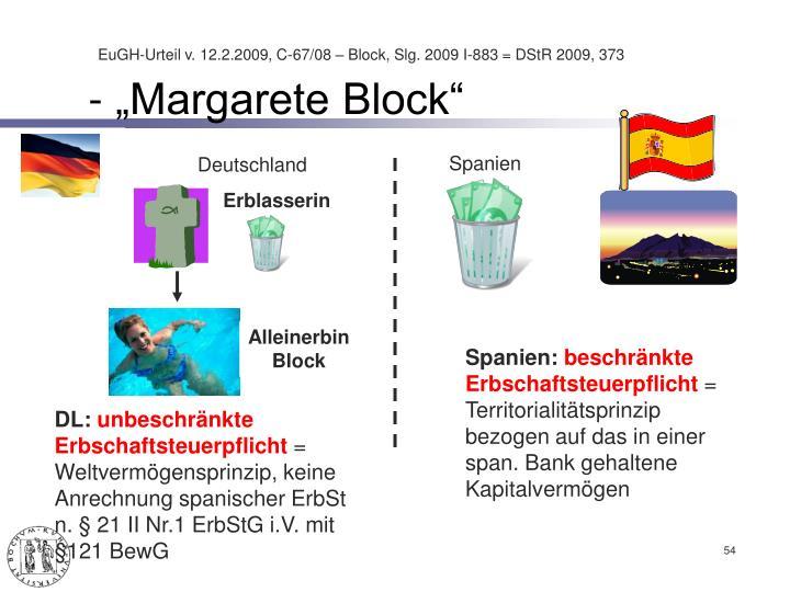 """- """"Margarete Block"""""""