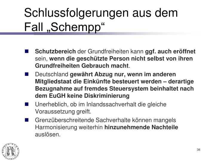 """Schlussfolgerungen aus dem Fall """"Schempp"""""""