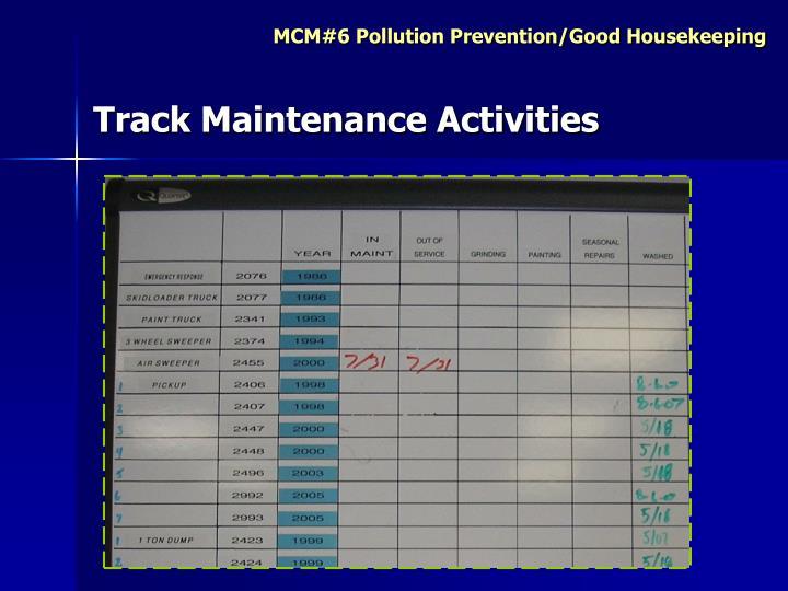 Track Maintenance Activities