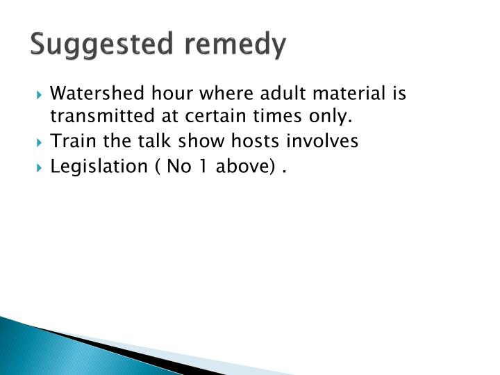 Suggested remedy