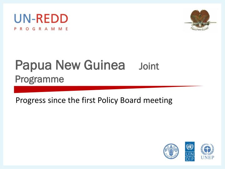 papua new guinea joint programme