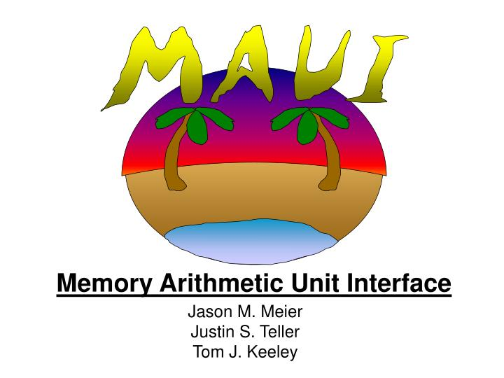 Memory Arithmetic Unit Interface