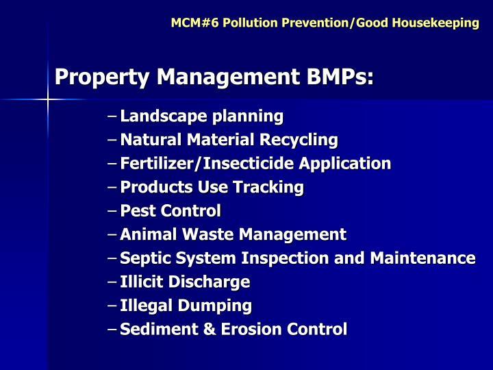 Property Management BMPs: