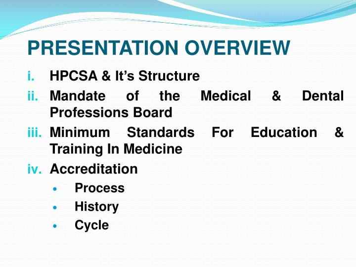 HPCSA & It's Structure