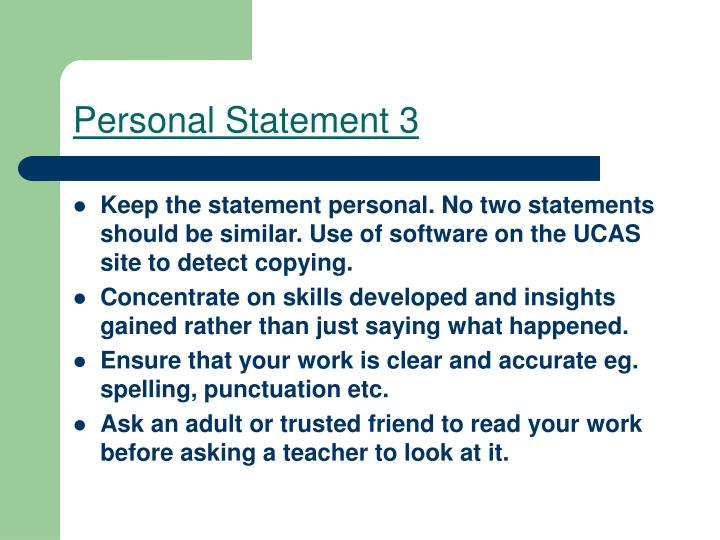 Personal Statement 3