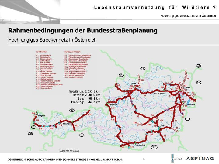 Hochrangiges Streckennetz in Österreich