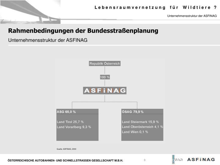 Unternehmensstruktur der ASFINAG