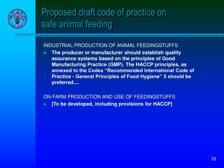 Proposed draft code of practice on