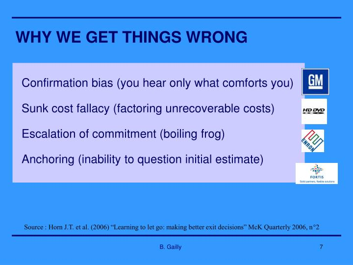 WHY WE GET THINGS WRONG