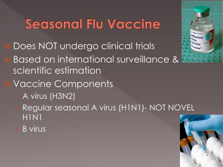 Seasonal Flu Vaccine