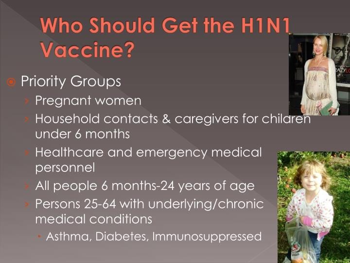 Who Should Get the H1N1 Vaccine?
