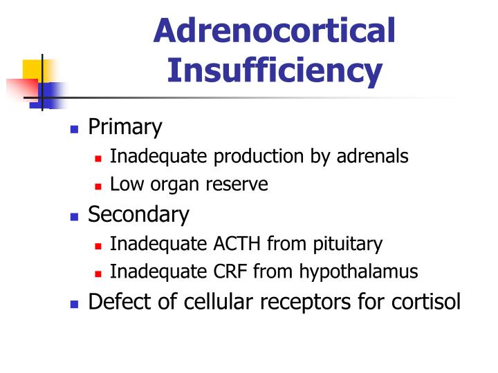 Adrenocortical Insufficiency