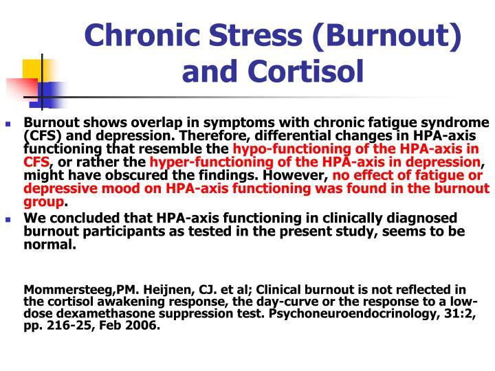 Chronic Stress (Burnout)