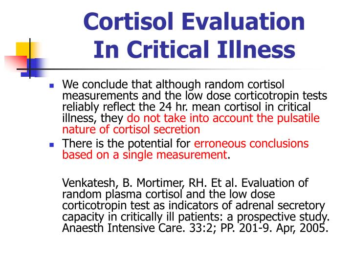 Cortisol Evaluation