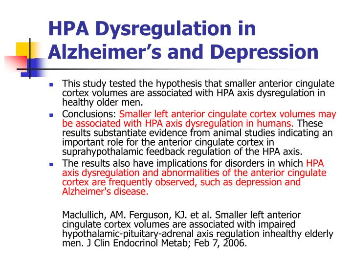 HPA Dysregulation in