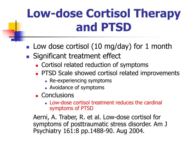 Low-dose Cortisol Therapy