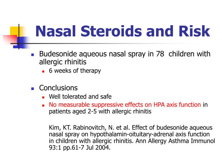 Nasal Steroids and Risk