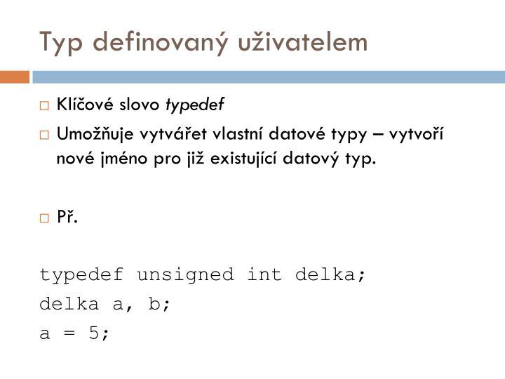 Typ definovaný uživatelem