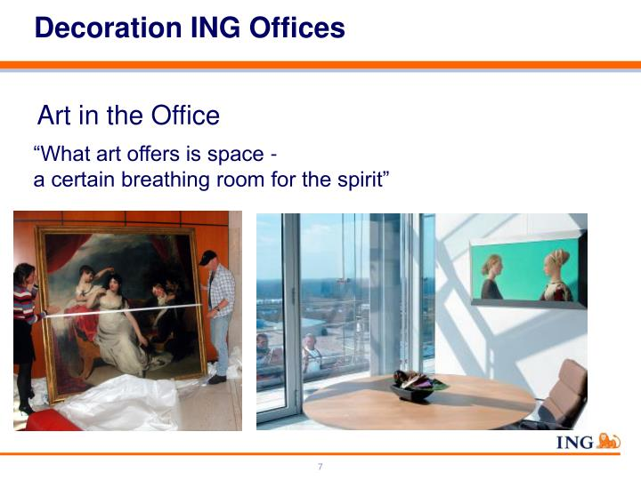 Decoration ING Offices