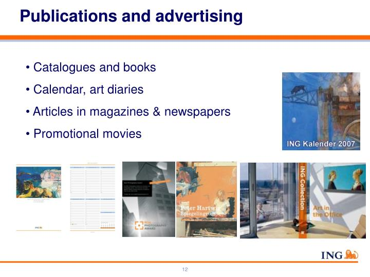 Publications and advertising