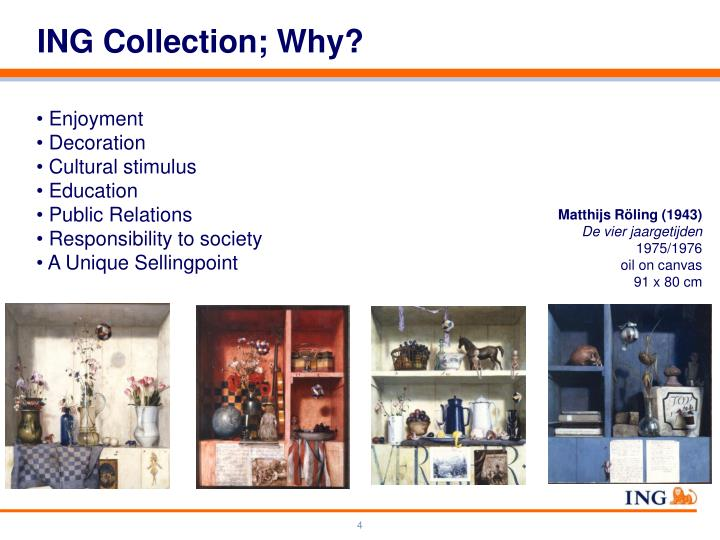 ING Collection; Why?