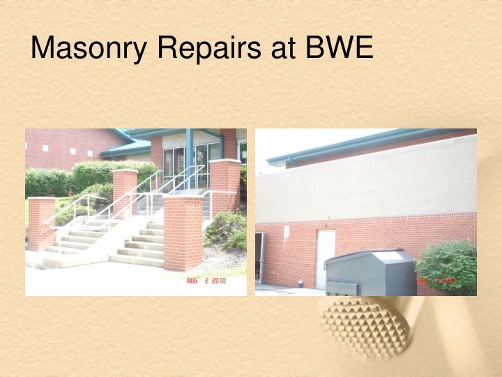 Masonry Repairs at BWE