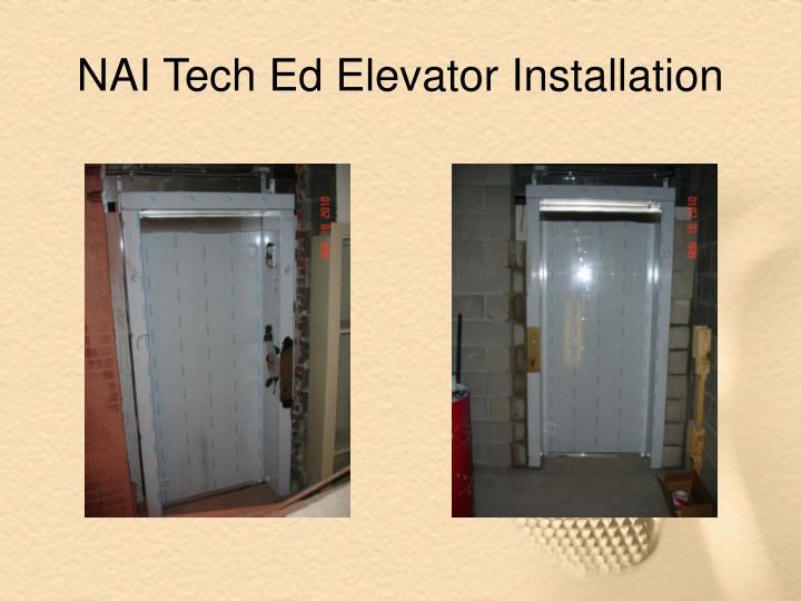 NAI Tech Ed Elevator Installation
