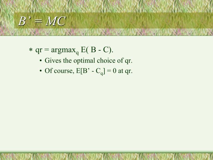B' = MC