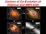 cartoon of co evolution of elliptical and mbh agn
