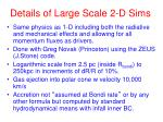 details of large scale 2 d sims
