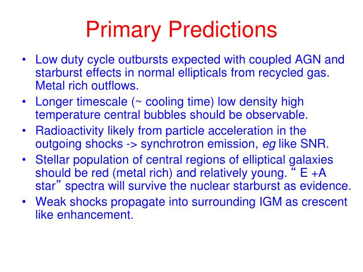 Primary Predictions