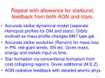 repeat with allowance for starburst feedback from both agn and stars