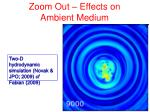 zoom out effects on ambient medium