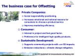 the business case for offsetting