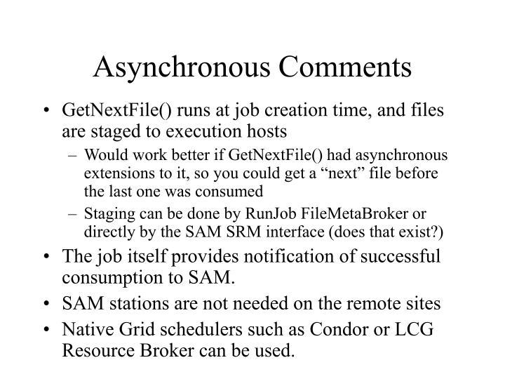 Asynchronous Comments