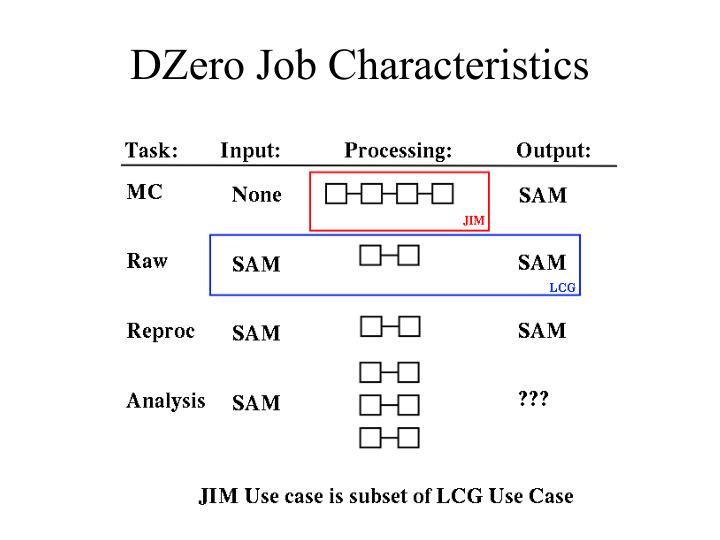 DZero Job Characteristics
