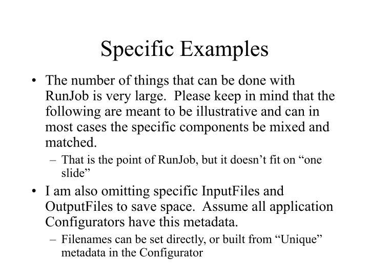 Specific Examples
