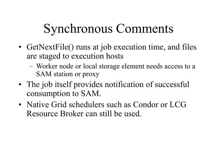Synchronous Comments