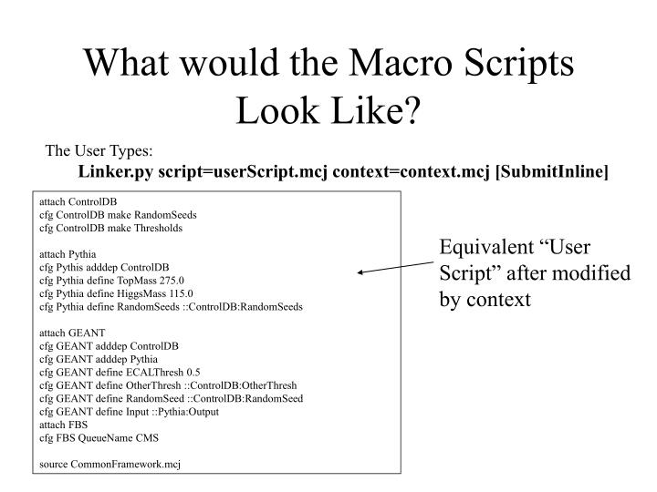 What would the Macro Scripts