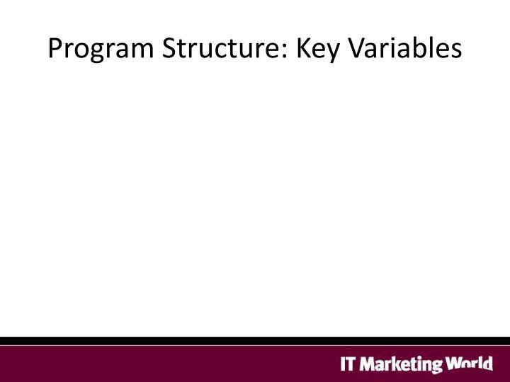 Program Structure: Key Variables