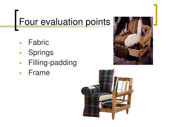 Four evaluation points