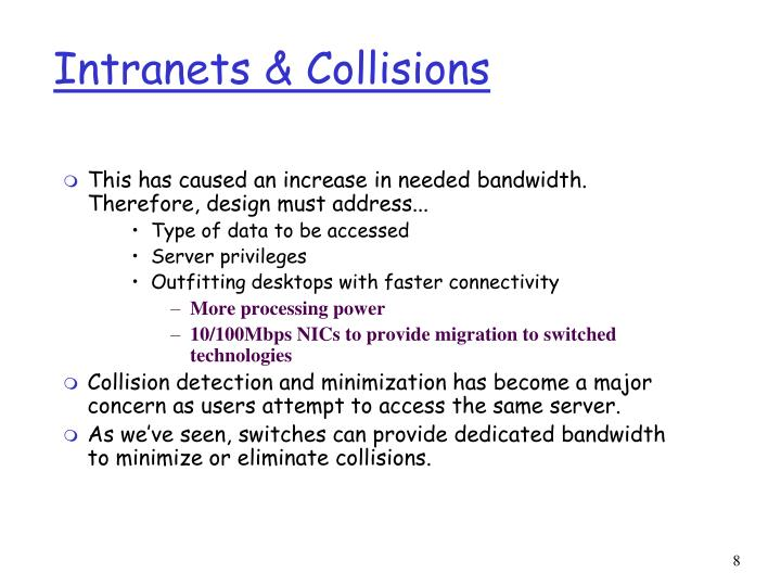 Intranets & Collisions