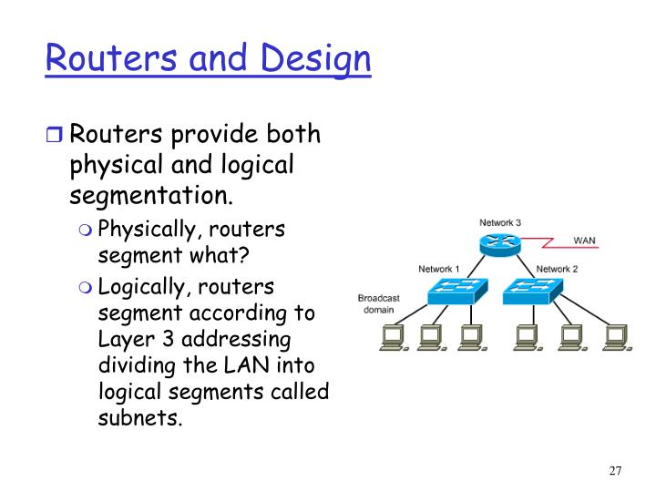 Routers and Design