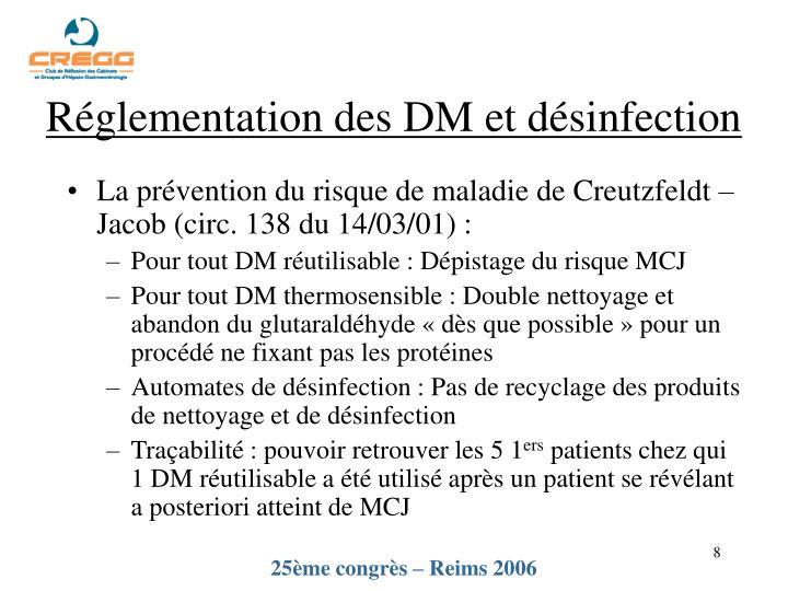 Réglementation des DM et désinfection