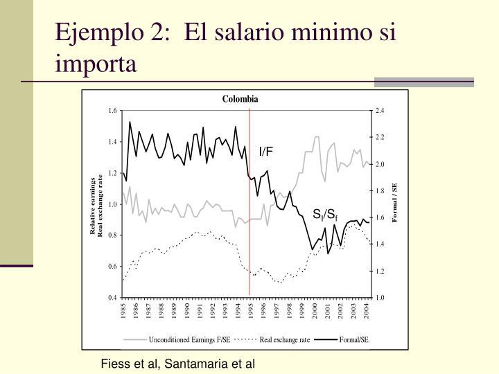 Ejemplo 2:  El salario minimo si importa