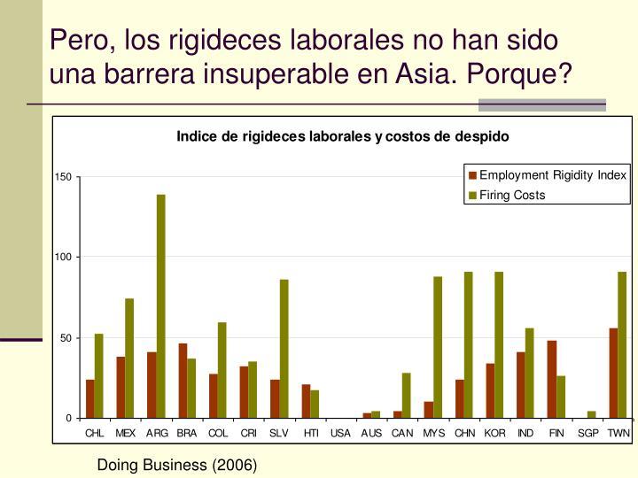 Pero, los rigideces laborales no han sido una barrera insuperable en Asia. Porque?