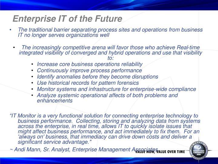 Enterprise IT of the Future