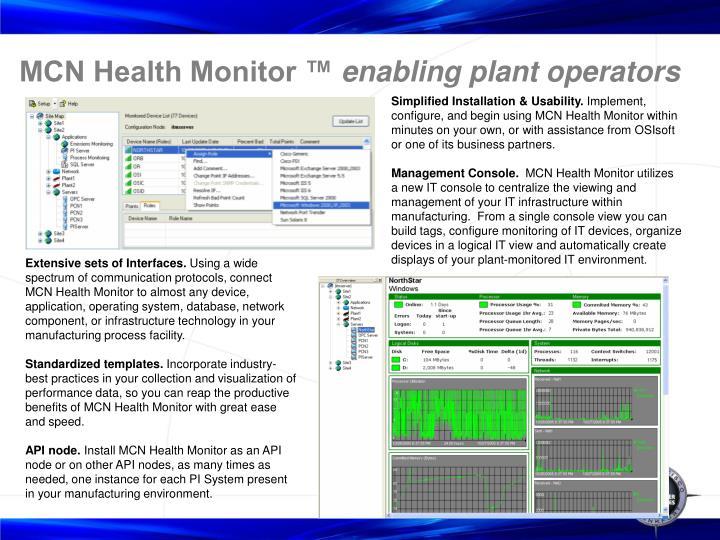 MCN Health Monitor ™