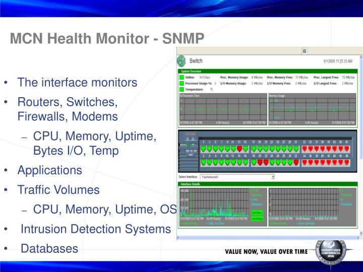 MCN Health Monitor - SNMP