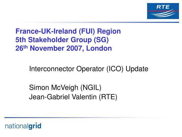 France-UK-Ireland (FUI) Region